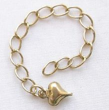 Gold Plated 7cm Extension Chain with Puffed Heart - 1